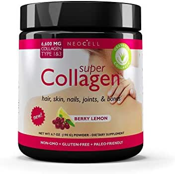 NeoCell Super Collagen Powder – 6,600mg Collagen Types 1 & 3 - Berry Lemon - 6.7 Ounce (Packaging May Vary)