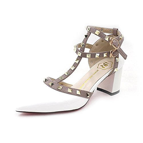 e93de5ffda55 Vlad Konovalov Women Pumps Rivet Slingback Studs Straps Stilettos High Heels  Pointed Toe Sandals