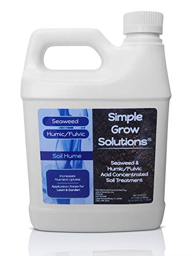 Super Seaweed Humic Fulvic Acid Blend- Organic Liquid Carbon - Soil Hume - Simple Grow Solutions- Bio Active Natural Lawn & Garden Concentrated Treatment- Increase Nutrient Uptake (32 Ounce)