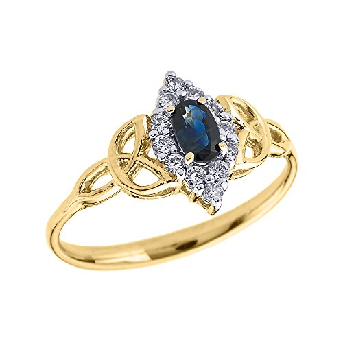 Oval-Sapphire-and-Diamond-10k-Yellow-Gold-Trinity-Knot-Proposal-Ring