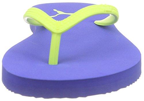 Puma First Flip Wns - Sandalias de dedo Mujer Azul - Blau (dazzling blue-safety yellow 02)