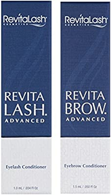 RevitaLash Cosmetics, Trial Size Gift Set / RevitaLash Advanced 1.0mL & RevitaBrow Advanced 1.5mL, Hypoallergenic & Cruelty Free