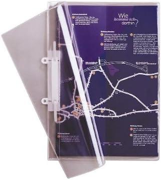 Durable 251219 - Pack de 25 carpetas transparentes tamaño A4 con anillas: Amazon.es: Oficina y papelería