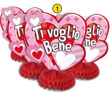 SET 4 FESTONI DA TAVOLO HAPPY LOVE TI VOGLIO BENE CENTROTAVOLA SAN VALENTINO DOR