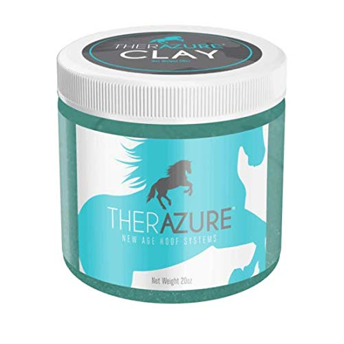 Therazure Hoof Thrush Treatment Clay for Horses Also Effective On White Line Disease- 20 oz Jar