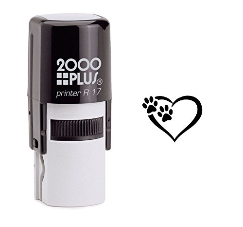 Tiny Paw Prints Dog Lover Self Inking Rubber Stamp - Black Ink (A-6324)