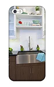 Forever Collectibles Kitchen With White Upper Cabinets And Dark Wood Lower Cabinets Hard Snap-on Iphone 5/5s Case
