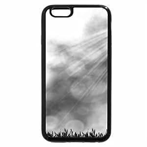 iPhone 6S Case, iPhone 6 Case (Black & White) - Bright Green Light