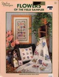 Iris Cross Stitch Pattern (Flowers of the Field Sampler)