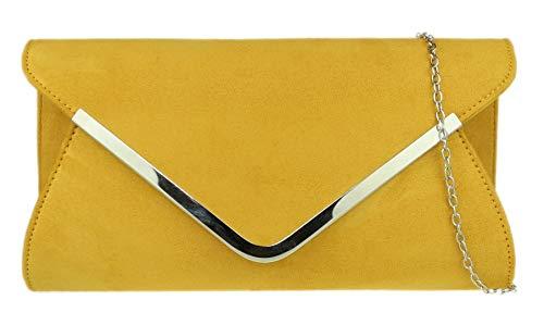 Mostaza Mano De Bolsa Handbags Diseño Girly Chica Con Sobre RqBgFxwn