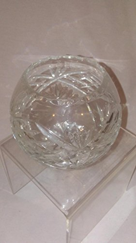unmarked Ornate Crystal Etched Pineapple Candy Serving Bowl