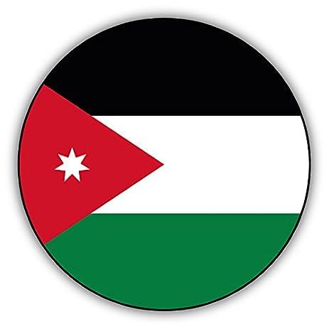 Jordan round flag car bumper sticker decal 12