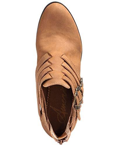 American Zeh Stiefel Frauen Tan Geschlossener Fashion Darie Rag 7Srqf7