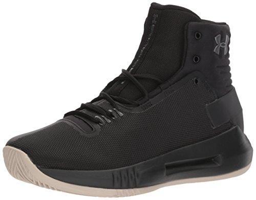 - Under Armour Boys' Grade School Drive 4 Basketball Shoe 001/Black, 6.5