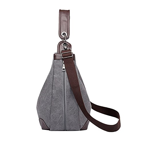 Travel Canvas Lonson Women's Handbag Bag Totes Casual Bags Brown Handle Shoulder Hobo q8F1OBq