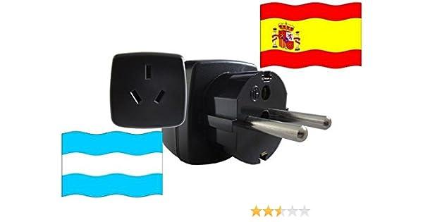 Adaptador de Viaje a España de Argentina ES-AR Enchufe de Viaje ...