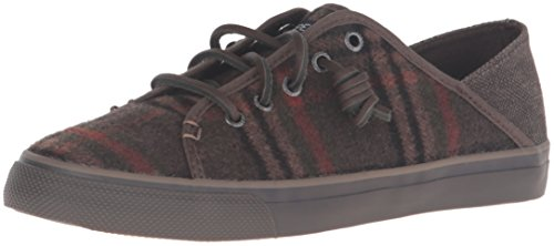 Sperry Top-sider Donna Seacoast Isola Plaid Kaki Moda Sneaker Kaki