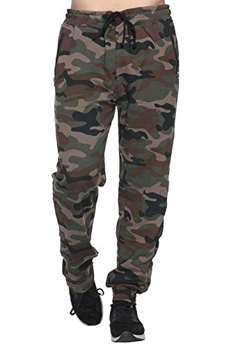 Harbor N Bay Men's Camouflage/Military/Army Print Track Pant