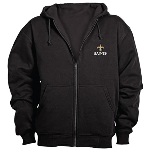 Dunbrooke NFL Craftsman Full Zip Thermal Hoodie, New Orleans Saints - Small - University New Orleans Basketball