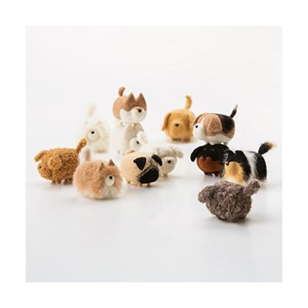 Truslin - DIY Needle Felting Kit with Gift Box Faceless Dog - Akita 3