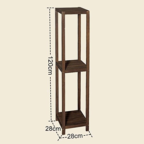 AIDELAI Solid wood multi - storey flower - style living room balcony floor wood simple modern flower holder shelves Patio Garden Pergolas ( Size : 2828120cm ) by AIDELAI
