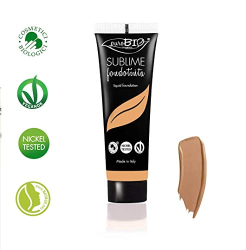 PuroBIO Certified Organic SUBLIME Revolutionary Long-Lasting, Liquid Foundation with Anti-Aging and Mattifying properties, Color 06 Medium/Tan. Contains Antioxidants, Vitamins, Plant Oils. ORGANIC. VEGAN. NICKEL TESTED. MADE IN ITALY … ()