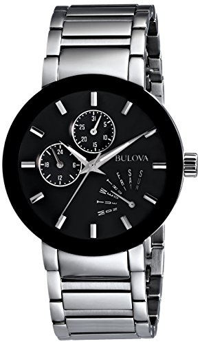 Bulova Men's 96C105 Black Stainless Steel (Bulova Watch)