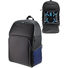 Navitech Rugged Black & Blue Backpack / Rucksack For Drones / Quadcopters Including The Parrot bebop drone / Parrot bebop 2