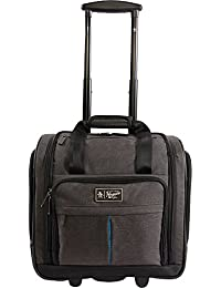 Men's Ethan Wheeled Under the Seat Carry on Bag, Black Crosshatch