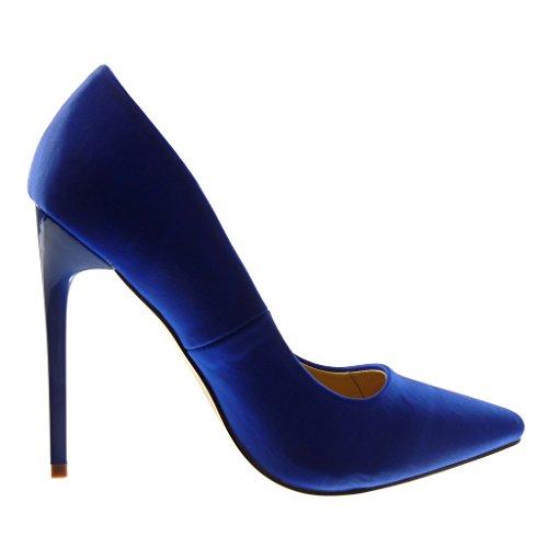 Angkorly Damen Schuhe Pumpe - Stiletto - Dekollete Stiletto High Heel 12 cm Blau