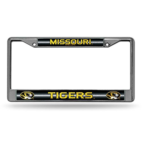 - NCAA Missouri Tigers Bling Chrome License Plate Frame with Glitter Accent