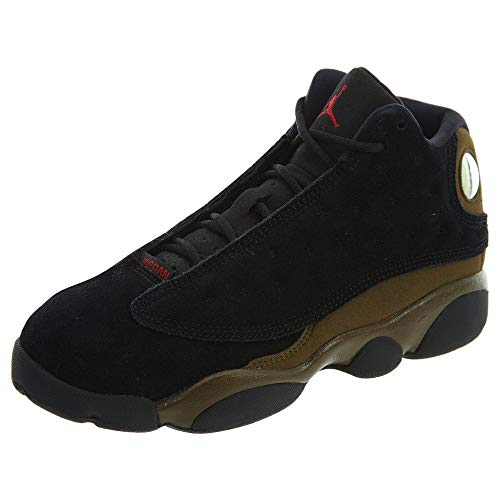 Jordan 13 Retro Little Kids' Basketball Shoes Black/Gym Red-Light Olive 414575-006 (3 M US) (Girls Basketball Shoes Air Jordan)