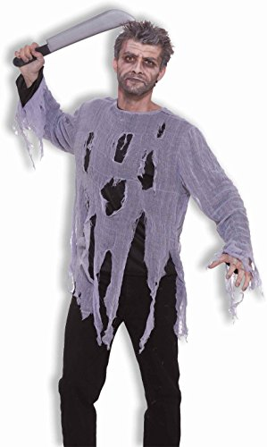 Men's Zombie Shirt Costume, Gray, One
