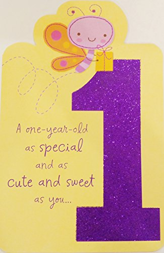A One-Year-Old as Special and as Cute and Sweet as You - Happy 1st First Birthday Greeting Card (Birthday Greetings For One Year Old Boy)