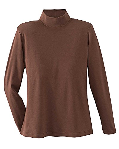Interlock Turtleneck Mock Ladies (UltraSofts Mock Turtleneck, Chestnut, 2X)
