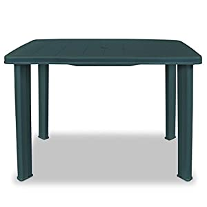 Festnight Plastic Outdoor Dining Table Garden Table Garden Furniture 101x68x72 cm Green