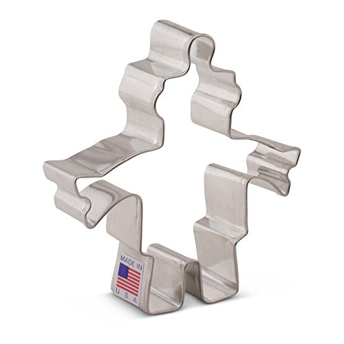 Ann Clark Robot Cookie Cutter - 3.75 Inches - Tin Plated Steel
