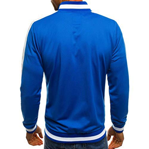 Coats Collar Turn Tops Blue Navy Sleeve Jacket Light Blue Men Grey Pockets Winter Autumn Black Men's Long Down Casual Zipper Outwear Fashion Bomber with Jackets 4fpnwTxqO