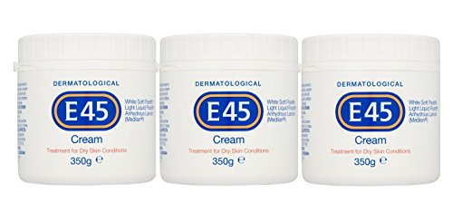 E45 Dermatological Cream Treatment for Dry Skin Conditions 350g Pack of 3