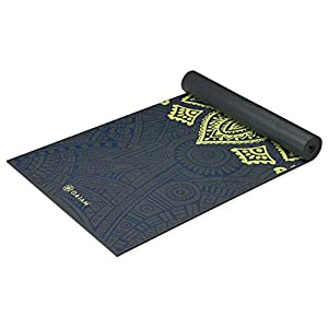 Gaiam 05-62432  Premium Print Yoga Mat, Sundial Layers, 5/6mm