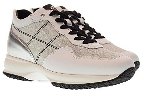 Sneakers Basse Hogan Donna Hxw00n0k010j180906 Bianco / Argento Interattivo