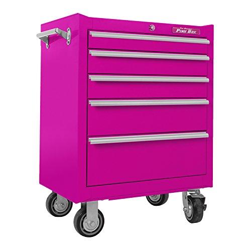 the original pink box pb2605r 26 inch 5 drawer 18g steel rolling cabinet pink buy online in. Black Bedroom Furniture Sets. Home Design Ideas