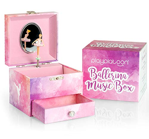 Play Platoon Ballerina Music Box for Girls - Ballet Dancer Jewelry Box with Drawer -