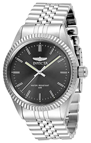 Invicta Men's Specialty Quartz Watch with Stainless Steel Strap, Silver, 22 (Model: 29372)
