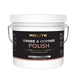Rolite Brass & Copper Polish (10lb) Instant Polishing & Tarnish Removal on Railings, Elevators, Fixtures, Hotels, Cruise Ships, Office Buildings