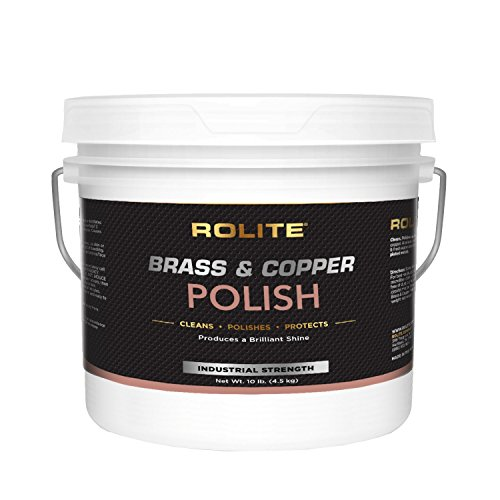 Rolite Brass & Copper Polish (10lb) Instant Polishing & Tarnish Removal on Railings, Elevators, Fixtures, Hotels, Cruise Ships, Office Buildings by Rolite (Image #4)