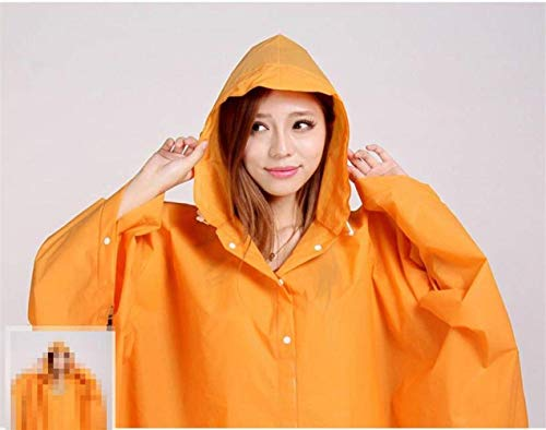 1 Tinta Bike Raincoat Fashion Con Impermeabile Rain Unita Transparent Cappuccio Classiche Donne Jacket E Poncho Fq6pPxnfB