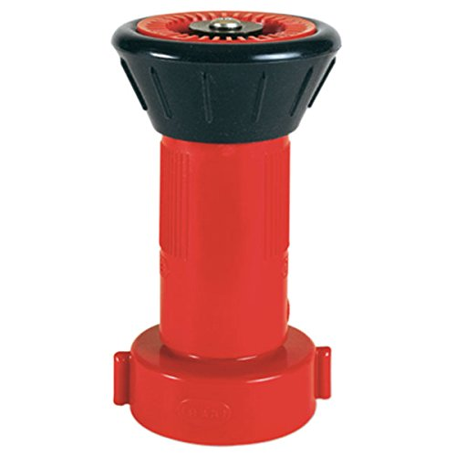Logistics 25NSTBR Polycarbonate Fire Hose Nozzles, Red