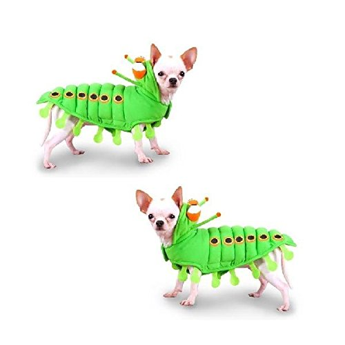 Puppe Love Dog Costume Green Caterpillar Insect Dress Your Dogs Like a Bug(Size 1)