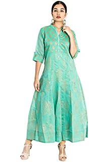 e50e2f9624 South India Shopping Mall Women Light Blue Floral Print Chanderi Kurti